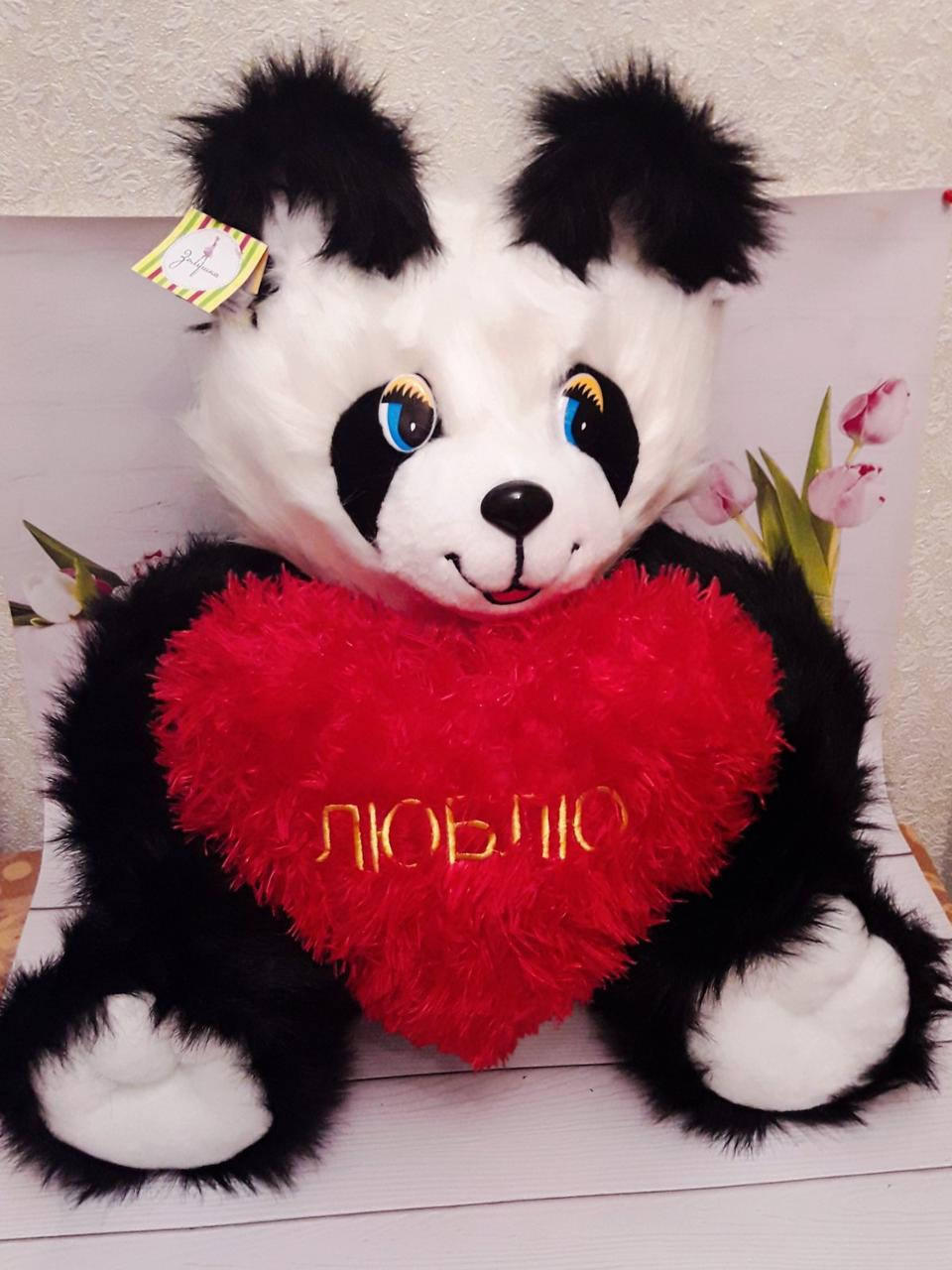 М'яка іграшка 63див Панда з серцем 28см