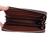 Мужской клатч из кожзаменителя коричневого цвета 3000777, фото 6