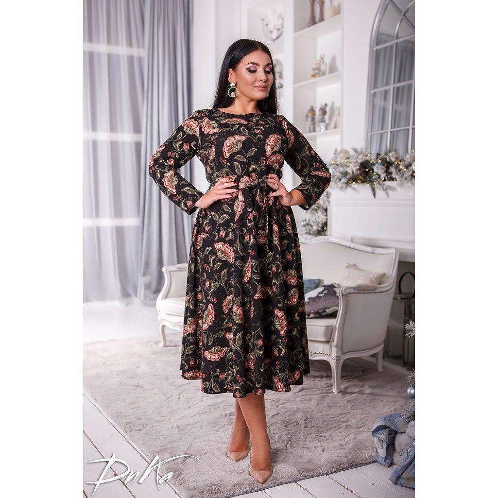 Платье  БАТАЛ миди 04ак0533