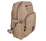 Рюкзак мужской текстильный 303333-1Beige Бежевый, фото 3