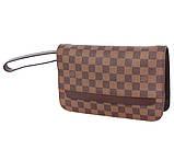 Модный клатч из качественного материала L.V. 300203 Коричневый, фото 3