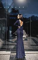 Вечернее  гипюровое платье в пол