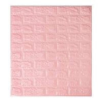 Листовые 3D панели для декора стен -Розовый кирпич (Самоклейки)
