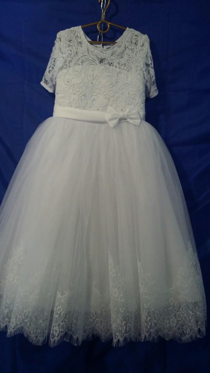 Подростковое нарядное платье для девочки р.8-9 лет опт