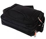 Горизонтальная сумка из ткани черного цвета Nobol 30812 Черная, фото 3