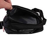 Горизонтальная сумка из ткани черного цвета Nobol 30812 Черная, фото 5
