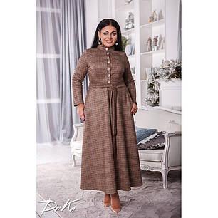 Платье  БАТАЛ клетка 04ак0539, фото 2