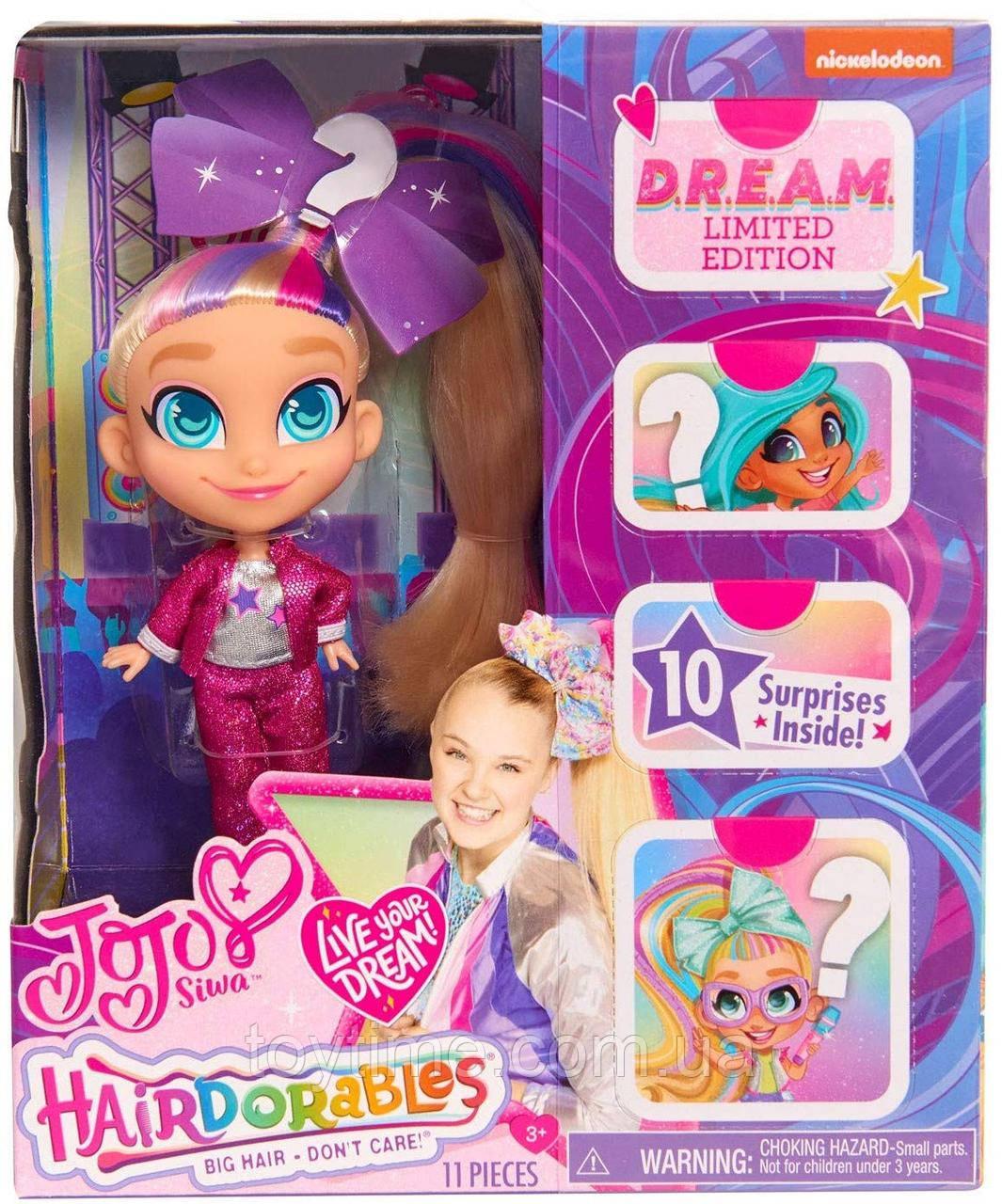 Хейрдораблес ДжоДжо Сива ограниченная серия / Hairdorables JoJo Siwa Limited Edition D.R.E.A.M. Doll Style A