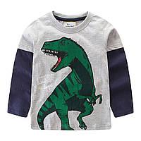 Реглан для мальчика Большой Динозавр. Jumping Meters