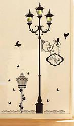 """Наклейка на стену, украшения стены наклейки для кухни """"столб с 3 фонарями"""" 160см*100см (лист60*90см)"""
