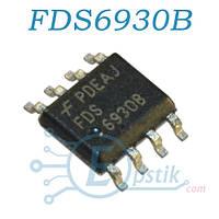 FDS6930B, MOSFET транзистор Dual N канал, 30В, 5.5А, SOP8