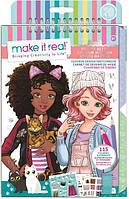 Make it Real: Блокнот с трафаретами для создания модных коллекций «Милая кошечка», фото 1