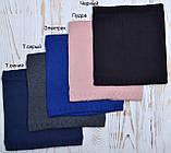 Шарф хомут теплый на флисе цвет Синий, фото 5