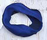 Шарф хомут теплый на флисе цвет Синий, фото 9