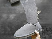 Женские сапоги UGG Bailey Bow Tall II Boot Grey 2026434, фото 3