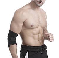 Компрессионная дышащая повязка на бицепс и локтевой сустав на липучке «Sport Style» (черный)