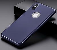 Силиконовый чехол бампер для iPhone X синий