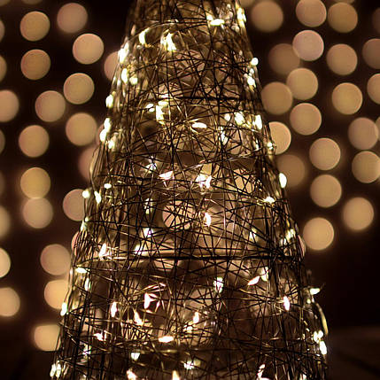 Декор Елка ЛОФТ Новогодняя Рождественская Ель с LED Гирляндой На Батарейках Или От USB 32х16см GoldWarmLOFT, фото 2
