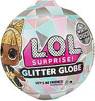 ЛОЛ Зимнее Диско Блестящий шар / L.O.L. Surprise! Glitter Globe Doll Winter Disco Series with Glitter Hair, фото 1