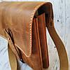 Сумка мужская Stedley кожаная табачный, фото 4