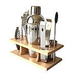 Подарочный набор бармена для приготовления коктейлей 350 мл. 9 предметов, фото 5