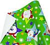 "Бумага упаковочная пт859.3 подарочная ""Дед Мороз и снеговик"", розовый крафт 0,7х10м"