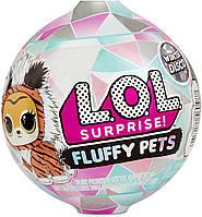 ЛОЛ Зимнее Диско Пушистый любимец / L.O.L. Surprise! Fluffy Pets Winter Disco Series with Removable Fur, фото 1