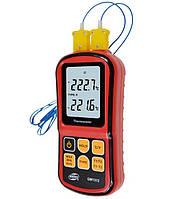 Цифровой двухканальный термометр Benetech GM1312 (от -50 до 300 ºC) с двумя термопарами К-типа (MK523)