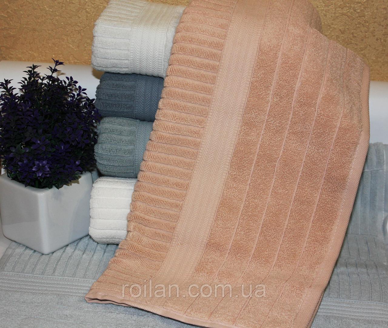 Банные турецкие полотенца Однотонная полоска