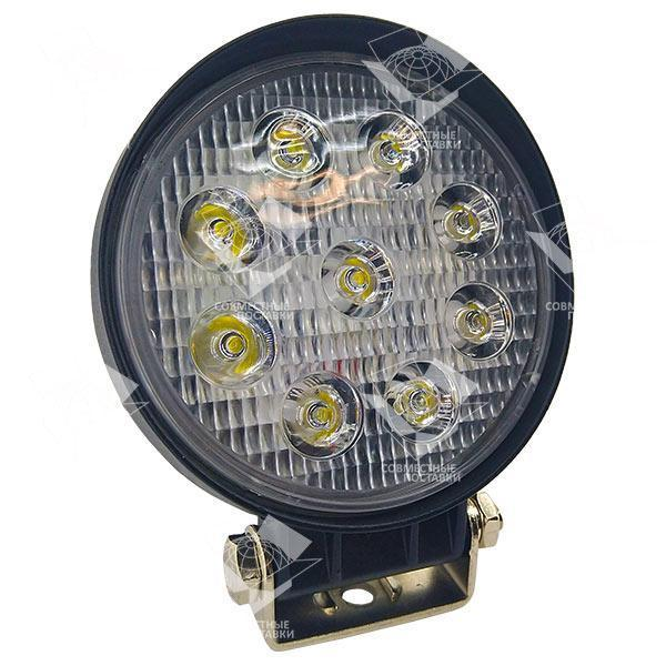 Дополнительная светодиодная фара рассеянного (ближнего) света 27W/60 круглая 10-30V