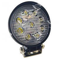 Дополнительная светодиодная фара рассеянного (ближнего) света 27W/60 круглая 10-30V, фото 1