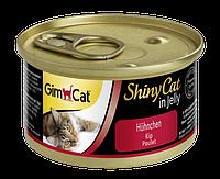"""Влажный корм Gimborn GimCat Shiny Cat """"Курица""""11/1 (для котов и кошек), 70 гр"""