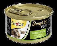 """Влажный корм Gimborn GimCat Shiny Cat """"Курица и папайя"""" 14/1 (для котов и кошек), 70 гр"""