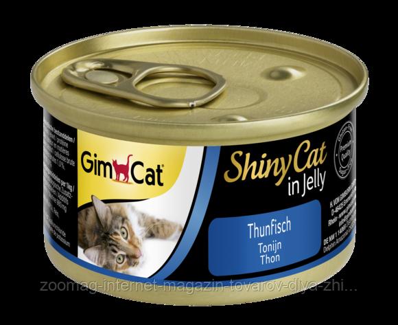 """Влажный корм Gimborn GimCat Shiny Cat """"Тунец"""" 14/0,5 (для котов и кошек), 70 гр"""