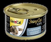 """Влажный корм Gimborn GimCat Shiny Cat """"Тунеци креветка"""" 13,5/0,5 (для котов и кошек), 70 гр"""