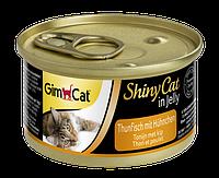 """Влажный корм Gimborn GimCat Shiny Cat """"Тунеци курица"""" 13,5/0,5 (для котов и кошек), 70 гр"""