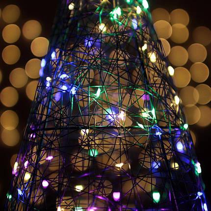 Декор Елка ЛОФТ Новогодняя Рождественская Ель с LED Гирляндой На Батарейках Или От USB 38х22см GoldMultiLOFT, фото 2