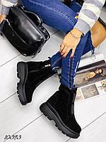 Женские Ботинки из натуральной замши
