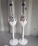Свадебные бокалы ручной работы Камни, фото 5
