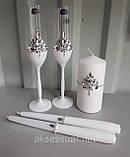 Свадебные бокалы ручной работы Камни, фото 3
