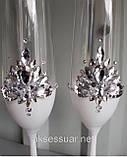Свадебные бокалы ручной работы Камни, фото 4