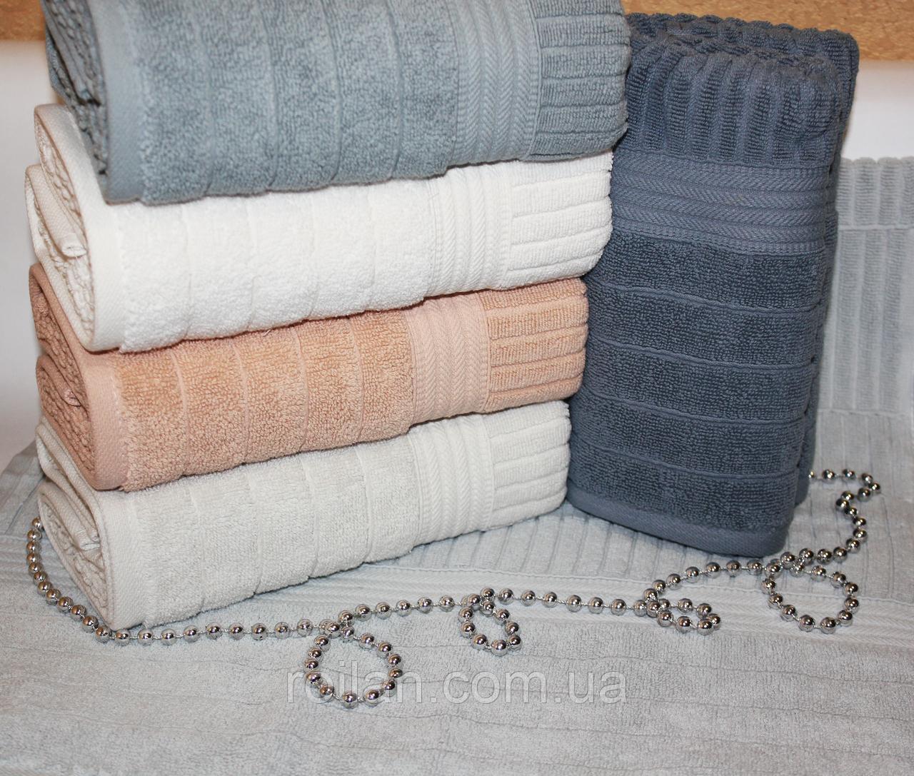Метровые турецкие полотенца Однотонная полоска