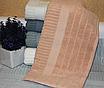 Метровые турецкие полотенца Однотонная полоска, фото 4