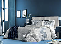 Покрывало с наволочками Antilo Amara azul 250х270 см + 2 наволочки (40х60 см)