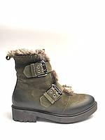 Ботинки зимние женские кожаные болотные натуральный мех.