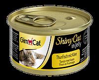 """Влажный корм Gimborn GimCat Shiny Cat """"Тунец и сыр"""" 13,5/1 (для котов и кошек), 70 гр"""