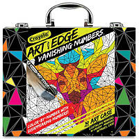 Crayola Набор фломастеры и раскраски по номерам в чемоданчике Art With Edge Vanishing Numbers Inspiration Art