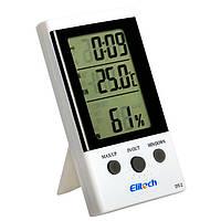 Термо-гигрометр Elitech DT-2 (Великобритания) ( -30°C... +50°C; 20%…99%) с термопарой 2 м (-50...+70°C) (MK608)