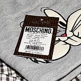 Брендовая женская вязаная шапка Moschino bugs bunny серая теплая зимняя модная унисекс бакс банни реплика, фото 4