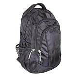 Современный городской рюкзак GO1-3837 Черный, фото 2